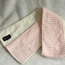 Youth Girls Gap Narrow Pink Striped Sequin Fleece Scarf Winter Outerwear Euc Photo
