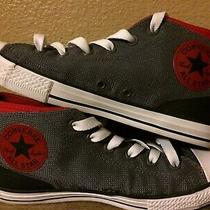 Youth/kids Size 6 Converse Gray/red Hightop Shoes/sneakers. Chuck Taylorall Star Photo