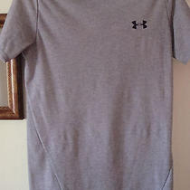 Youth Large Under Armour Heat Gear Light Gray S/s Shirt Mock Turtle Neck Photo