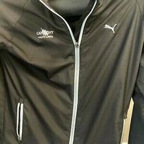 Youth Puma Full Zip Warm Up / Golf Jacket - Black - Size Large Photo