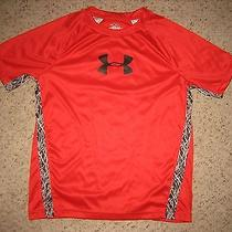 Youth Red Under Armour Heat Gear Shirt Sz Ylg Photo