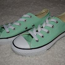 Youth Size 13 Converse New Low Tops Light Green Photo