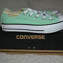 Youth Size 13 New Mint Green Converse Low Top Canvas Photo
