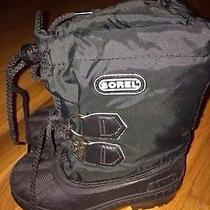Youth Sz 9 Sorel Snow Boots Insulated Water Proof Photo