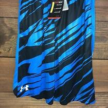 Youth Under Armour Heat Gear Gym Shorts (Blue/black Ylg) Photo