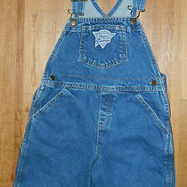 Youth Unisex Classic Guess Brand Denim Overall Shorts Size 6x / 24x6 Photo