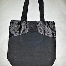 Ysl Black canvas&satin Ribbon Embroidery Shopper Bag Vip Gift Eco Tote Bag /gift Photo