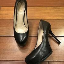 Ysl Black Leather Platform Pumps Size 38 Photo