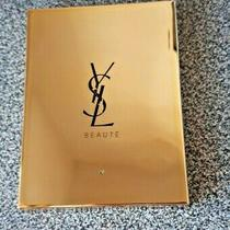 Ysl Saint Laurent Purse Handbag Travel Compact Mirror Gold Metal 3