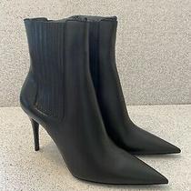 Ysl Saint Laurent Womens Black Leather Ankle Boots Lexi 90 Sz 39.5 1095 New Photo