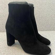 Ysl Saint Laurent Women's Black Suede Ankle Boots Loulou Size 38.5 995 New Photo