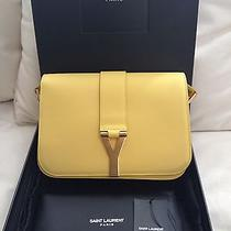 Ysl Saint Laurent Yellow Calfskin Classic Y Chyc Satchel Photo