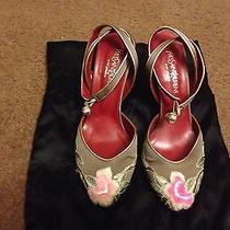 Ysl Silk Satin Shoes Size 37 Photo