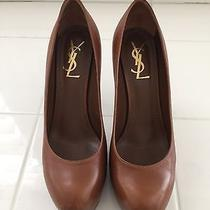 Ysl Tribtoo 80 Pump Cognac Size 38 Photo