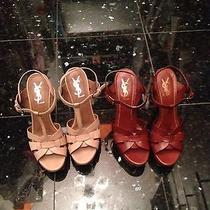 Ysl Tribute Sandals Wood Brown 39 Photo