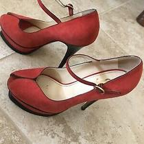 Ysl Tribute Size 38 Red 105mm Heels Scamosciato Photo