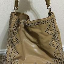 Ysl Yves Saint Laurent Beige Studded Leather Roady Hobo Embellished Handbag Photo
