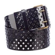 Ysl Yves Saint Laurent Black Patent Belt. Size L Euc Photo