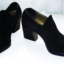 Ysl Yves Saint Laurent Black Suede Loafers 10 Photo