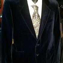 Ysl Yves Saint Laurent Blue Suede Velvet Sportscoat Blazer  Rare Made in France  Photo