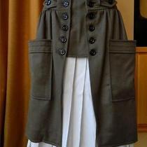 Ysl Yves Saint Laurent Cashmere Skirt Pleated Underskirt Runway Pockets 38 New Photo