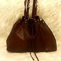 Ysl Yves Saint Laurent Double Sac Reversible Tote Burgundy and Gold Photo