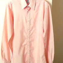 Ysl Yves Saint Laurent Dress Shirt 15 34-35 Light Pink Long Sleeve Photo