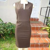 Ysl Yves Saint Laurent Fitted Brown Stretch Cocktail Dress Sz 36 Made in France Photo