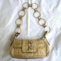 Ysl Yves Saint Laurent Gold Metallic Chain Ring Small Shoulder Handbag Purse Photo