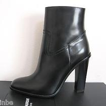 Ysl Yves Saint Laurent Hunt Chunky Zipper Ankle Boots Booties 39 9 1145 Photo