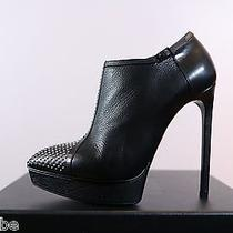 Ysl Yves Saint Laurent Janis Studded Nose Ankle Boots Booties 39.5 9.5 1195 Photo