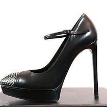 Ysl Yves Saint Laurent Maryjane Janis Studded Nose Pumps Shoes 38 8 845 Photo