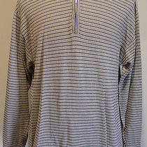 Ysl Yves Saint Laurent Mens Polo Medium Shirt 1/4 Zip Front Pullover Longsleeve  Photo