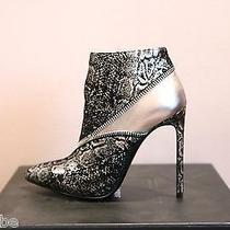 Ysl Yves Saint Laurent Metallic Paris Zipper Ankle Boots Booties 36.5 6.5 1025 Photo