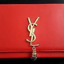 Ysl Yves Saint Laurent Modern Red Clutch  Photo