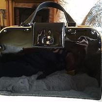 Ysl Yves Saint Laurent Patent Leather Black Handbag 2300 Photo