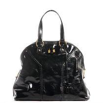 Ysl Yves Saint Laurent Patent Oversized Muse Tote Handbag Purse Bag Black  Photo