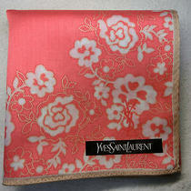 Ysl Yves Saint Laurent Pink Flower Handkerchief 50x50cm(19.69