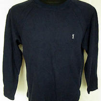 Ysl Yves Saint Laurent Pour Homme Mens Blue Sweater Jumper Pullover Sz L Used  Photo