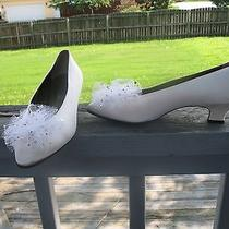 Ysl Yves Saint Laurent Pumps Womens Size 7/5 M White Satin Photo