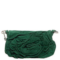 Ysl Yves Saint Laurent Suede Nadja Shoulder Bag Purse Handbag Green Photo