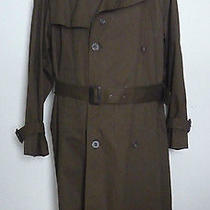 Ysl Yves Saint Laurent Trench Coat Men's 42r Kakhi Removable Wool Lining Photo