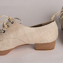 Ysl Yves Saint Laurent Vintage Chaussures Linen Shoes 9 M Italy Box Annie Hall Photo