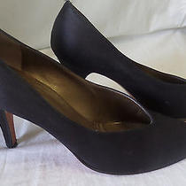 Ysl Yves Saint Laurent Vintage Fabric Heels Classic Pumps Shoes Dressy Sz. 7 Photo