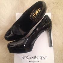 Ysl Yves Saint Laurent Womens Black Pumps Size 10 Like New Photo