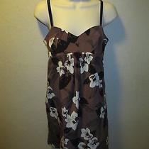 Yumi Kim 100 % Silk Floral Strappy Halter Tank Dress Size S Photo