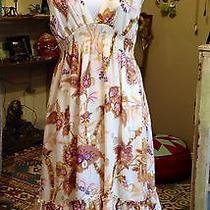 Yumi Kim 100% Silk Knee-Length Floral Sundress M Photo