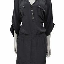 Yumi Kim Anthropologie Black Maggie Lbd Silk 3/4th Roll Sleeve Dress M 184 Msrp Photo