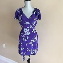 Yumi Kim Casual Purple Japanese Floral Print Dress Size S Photo