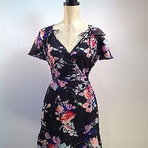 Yumi Kim Floral Print Tie Sleeve Short Sleeve Dress - Medium Photo